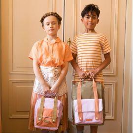 Rucksack Envelope deluxe small Gustave lilac / concierge orange / madame olive