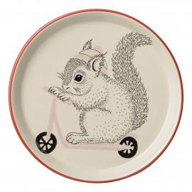 Keramikteller 'Mollie Squirrel' (Ø 20cm)